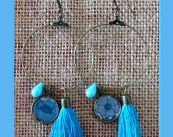 Hoop earrings poppy and daisy liberty blue