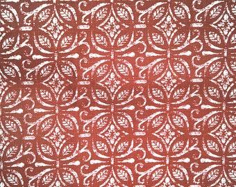 Kitchen towel, Red Floral ornament tea towel, Cotton towel, Tea towel, 18'x28' (45X70 cm), dish towel, Floral ornament pattern kitchen towel