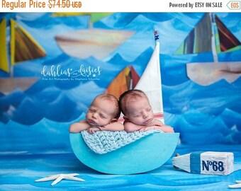 SUMMER SALE Newborn Sailboat Photography Prop