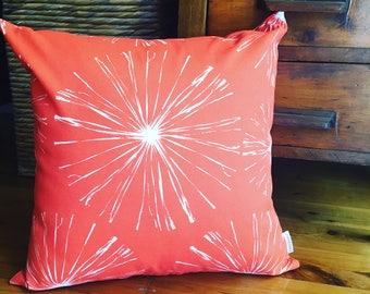 Orange Spark- Indoor Outdoor cushion cover
