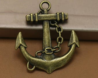 20pcs 27x31mm Antique bronze Anchor Charms pendants