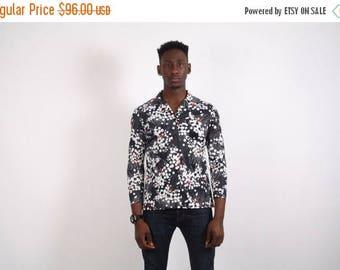 Final SALE - 70s Vintage Polyester Shirt - 70s Disco Shirt - Disco Shirt - 1718