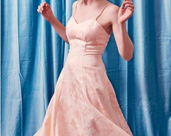 Vintage Pink Twirl Sundress