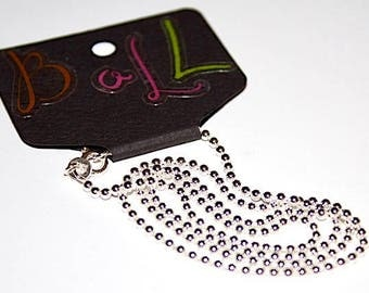 BALL Chain 925 Sterling Silver 2mm - 17.72 in - SNK-AC011-18