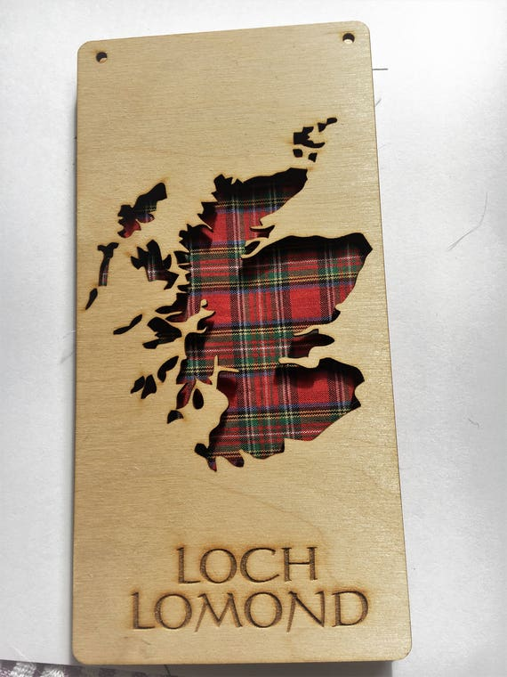 Stunning Scotland  or Isle of Skye Plaque Map