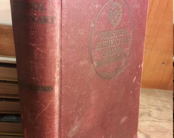 1914 Webster's Dictionary - Antique Dictionaries - Old Reference Books - Vintage Books for Decorating and Collectors