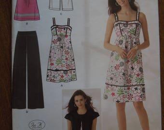 Simplicity 2373, sizes 6-14, misses, womens, pants, dress, top, jacket, UNCUT sewing pattern