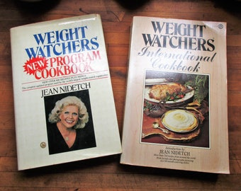 Two Weight Watchers Cookbooks from the 1970's