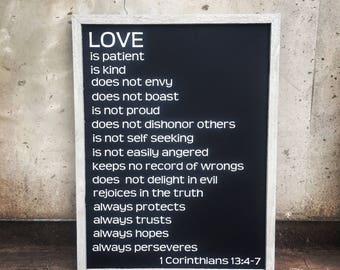 Love is (1 Corinthians 13) sign