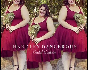 Burgundy Wine CHERI Bridesmaid Dresses, Casual Stretch Knit, Cranberry Wedding, You choose the Style, Custom Fit, Hardley Dangerous Couture
