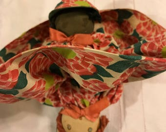 Antique cloth Topsy Turvy doll