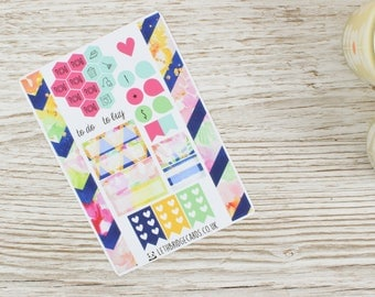Flower Burst Pocket Weekly Kit; Vinyl Matt; Mini Kit; Pocket TN Kit; WO1P Kit; Planner Stickers; Pocket Filofax; Summer Kit