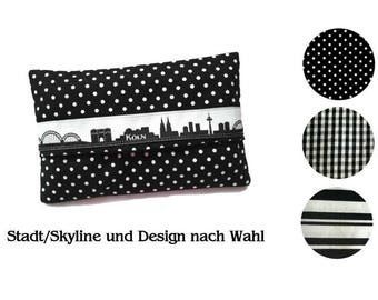 Handkerchief pouch - city and design of your choice