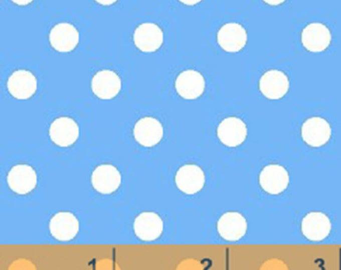 Windham Basic Brights - Aspirin Dot in Periwinkle Blue / White - Bright Basics Cotton Quilt Fabric Dots - Windham Fabrics - 29398-5 (W4148)
