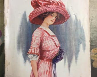 RARE Vintage Antique 1911 McCall's Magazine/Edwardian Magazine/McCall's Vintage Booklet Catalog/Fashion Catalog/Edwardian Catalog
