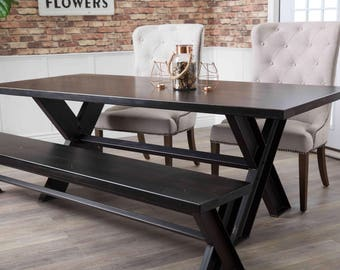 Industrial dining table   Etsy