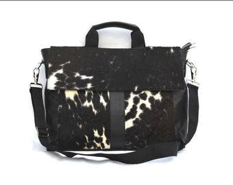 Western Cowhide 15'' Computer Business Briefcase Shoulder Laptop Bag -16