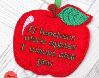 teacher present, teacher gift, personalised teacher gift, end of term, teacher appreciation, nursery teacher, end of year gift, apple