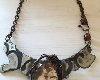 Mother and Child Statement Necklace