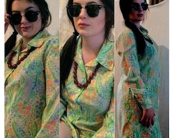 Vintage 60s  Shirt Dress SAMBO