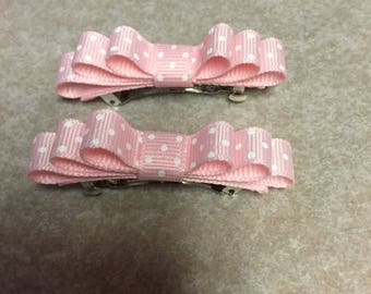 Pair of Easter or Spring Hair Bows