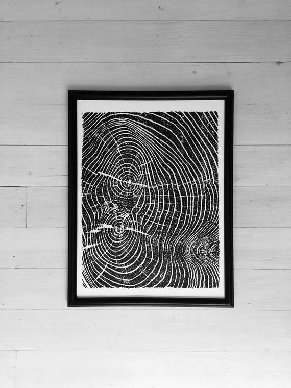 Tree ring art, Nature inspired, Ash tree, tree art, tree, tree ring print, Woodcut art, Christmas Art, Holiday art gift, Thanksgiving art