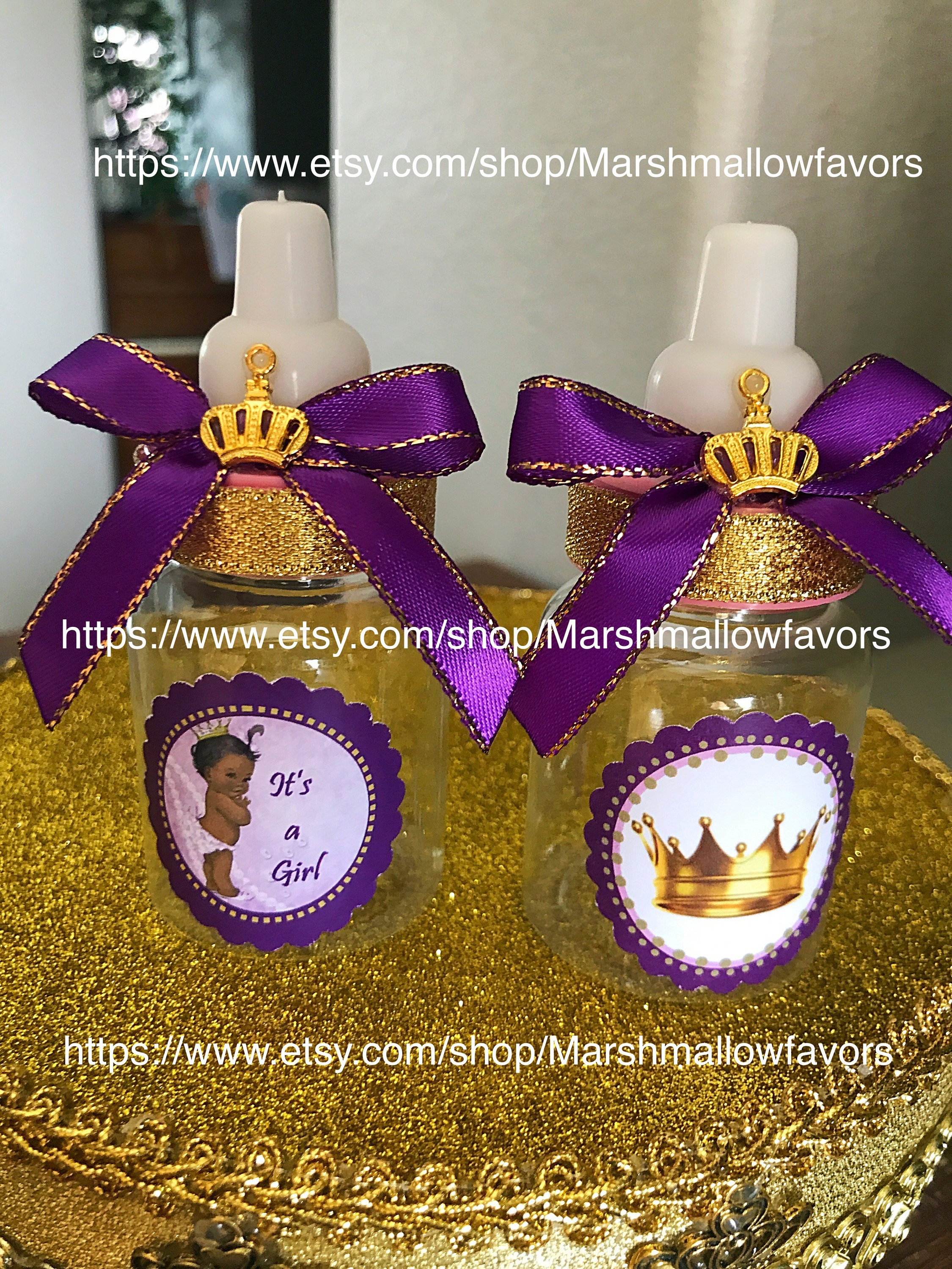 12 little princess baby shower favors lavender little - Baby shower invitations and decorations ...