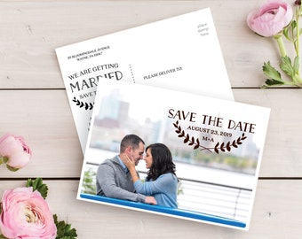 Save The Date -  Save The Date Postcards - Save The Date Cards - Save Our Date - Printed Save The Date Postcard - Simple - Free Shipping