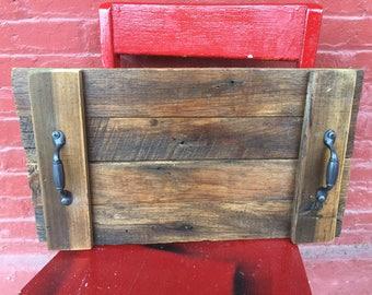 Barnwood Table Tray | Wood Sign | Barn Wood | Coffee Tray | Solid wood Table tray | Coffee House | Old Barnwood |