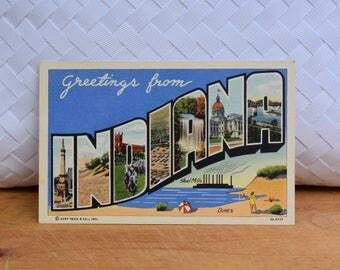 Vintage Indiana Linen Postcard