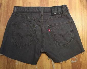 Levi's High Waisted shorts / vintage high waisted /denim short / Levi / size 29 / size M / clearance / cut off shorts / gray shorts