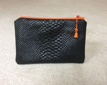 Pouch, case, faux leather clutch