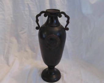 Antique Gothic Victorian Mourning Wreath Vase Urn