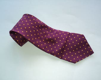 Vintage POLO By Ralph Lauren Polka Dot Neck Tie / All Silk Tie / Made in USA / Gift for Him