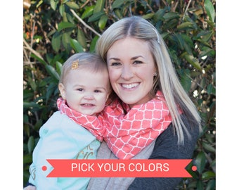 Mommy and Me New Mom Gift Set Mom and Daughter Matching Outfits Mother Daughter Outfits Matching Mommy and Baby Matching Scarves Baby Girl