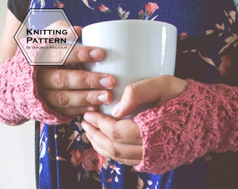 Knitting Pattern | Fingerless Knit Texting Gloves Pattern | NOUVEAU