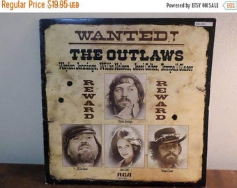 Save 30% Today Vintage 1978 LP Record Wanted The Outlaws Waylon Jennings Willie Nelson More Excellent Condition 15404