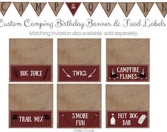 Camping Birthday Printables