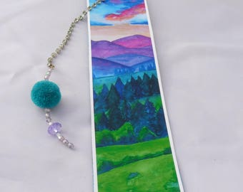 """inspired by an """"o my dream"""" watercolor bookmarks"""