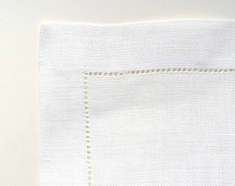 Ivory linen table runner