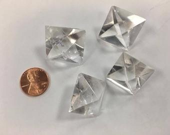 One (1) Octahedron Sacred Geometry Quartz
