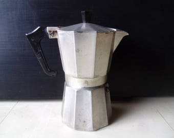 Aluminium coffee pot , Stovetop espresso coffee maker , Moka pot , Macchinetta , Italian kitchenware