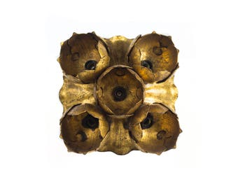Apply Wall or Ceiling. Water Lily, forge and Gold Leaf.