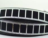 """Silver Movie Film Black Grosgrain Ribbons 1"""" Scrapbooking HairBows SM012118"""
