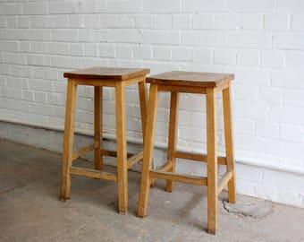 Mid Century School Lab Stools 61cm Tall Circa 1950u0027s & Vintage lab stool | Etsy islam-shia.org