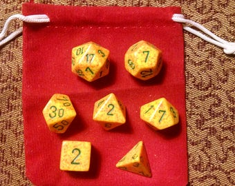 Buttercups - 7 Die Polyhedral Set with Pouch