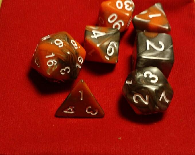 Molten Steel - 7 Die Polyhedral Set with Pouch