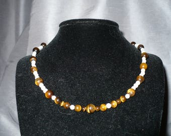 Tiger's Eye and Cats Eye Choker