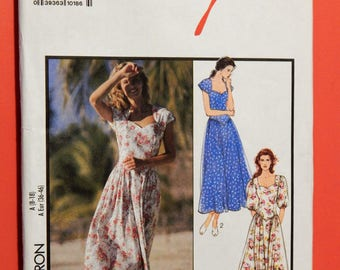 Style 1751 Dress pattern with sweetheart neckline and sleeve variations Sizes 8, 10, 12, 14 and 16