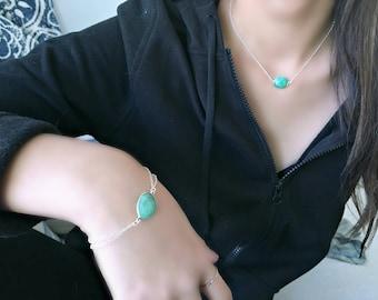 chrysoprase bracelet green chalcedony bracelet heart love tag heart jewelry green quartz chrysoprase jewelry 925 sterling silver beach gift